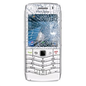 BlackBerry Pearl 3G 9105 Glas Reparation - Vit