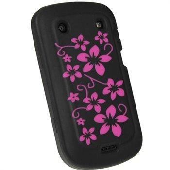 BlackBerry Bold Touch 9900, 9930 iGadgitz Blommor Silikon Skal - Svart
