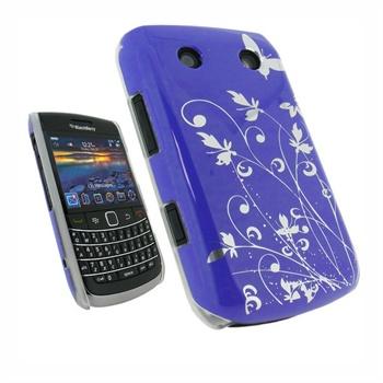 BlackBerry Bold 9700, Bold 9780 iGadgitz Silver Fjärilar Hårt Skal - L