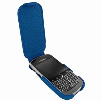 Blackberry Bold 9900, 9930 Piel Frama iMagnum Läder Fodrali - Blå