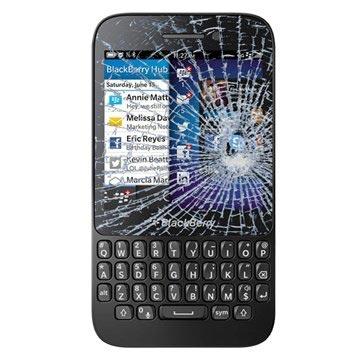 BlackBerry Q5 Pekskärm Reparation - Svart