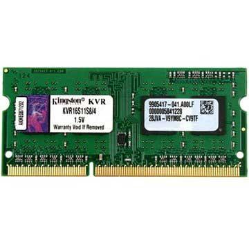 Kingston ValueRAM KVR16S11S8/4 1600MHz SO-DIMM DDR3 RAM-minne - 4GB