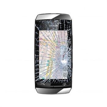 Nokia Asha 305 Pekskärm Reparation - Vit