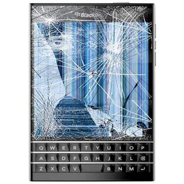 BlackBerry Passport LCD-display %26 Pekskärm Reparation - Svart