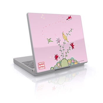 Laptop Skin - Birds On A Hill - Rosa